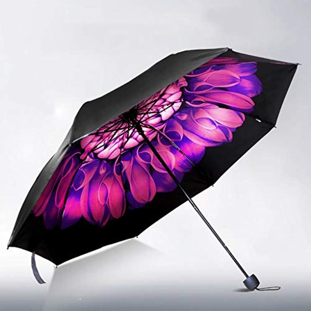 スクリューデザイナー不正直傘3折りたたみ日焼け止めUV雨デュアルユースブラックプラスチック日焼け傘黒プラスチック日焼け止め (色 : E)