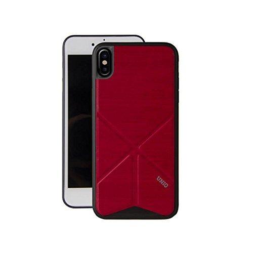 iPhone X/シェル型ケース/2WAYスタンド/Trasnforma Ligne/Fire(Red)