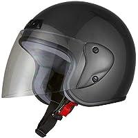 バイクパーツセンター バイクヘルメット ジェット ガンメタリック 7203 FREE (頭囲 57cm~60cm未満)