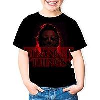 子供女の子 T シャツ Stranger Things 丸襟 カットソー 半袖 青年 女の子tプリントファッション 夏服