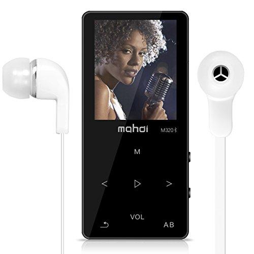 OuLe MP3プレーヤー Bluetooth対応 タッチボタン デジタルオーディオプレーヤ usb充电 多機能 HIFI高音質 音楽プレイヤー 運動mp3 FMラジオ 録音 内蔵8GB マイクロSDカード128GB対応 (ブラック)
