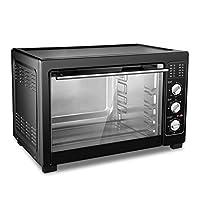 38Lミニオーブン調理器具(グリル付き、調理機能付き)1800W、4層焼き付け/ 120分のタイミング/ 70〜230℃温度調整、ステンレス製