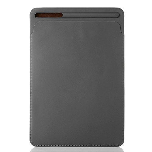 PINHEN For iPad Air 10.5 2019 / iPad Pro 10.5 2017 ケース カバー ipad 10.5 スリーブ ケース プロテクターケースApple Pencil収納可能 PU製 スリム 薄型 (10.5, Grey)