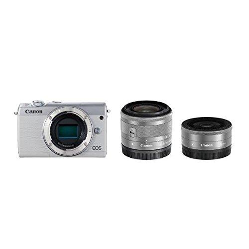 Canon ミラーレス一眼カメラ EOS M100 ダブルレンズキット ホワイト EOSM100WH-WLK