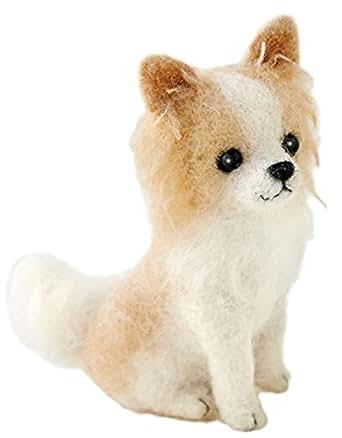 ハマナカ フェルト羊毛キット ふわふわ羊毛でつくる、フェルト犬 チワワ(ロングコート) H441-422 Designed by 須佐沙知子