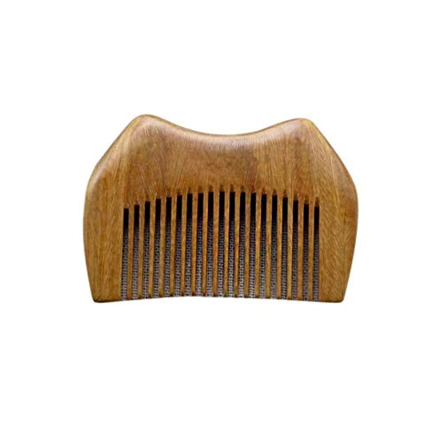 移行司令官海峡ヘアコーム理髪くし ショートハンドルに静的なグリーンサンダルウッドくし手作りの木製くし ヘアスタイリングコーム (Color : Photo color)