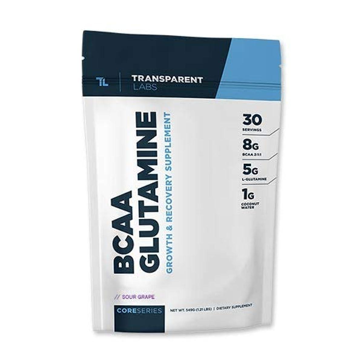 もろいつなぐリーズコアシリーズ BCAA グルタミン サワーグレープ 30回分 Transparent Labs(トランスペアレント)[海外直送品]