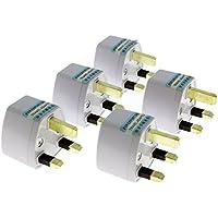 香港 シンガポール イギリス 旅行 で使用できる BF タイプへの変換可能 コンセント プラグ 5個セット  A,SE,C,B3,O,B の世界の家電を使える 電源変換アダプタ