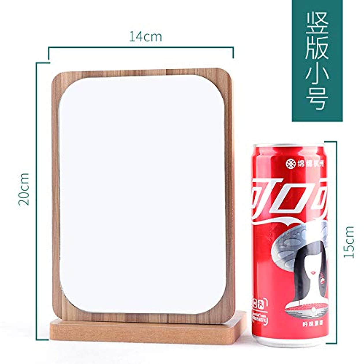 へこみスマートタックル木製の折りたたみ化粧鏡のテーブルトップは、大きなポータブルハンドミラーにすることができます