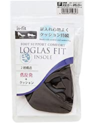 モリト is-fit(イズ?フィット) ログラスフィット ハーフインソール 女性用 フリーサイズ (22.0~25.0cm)