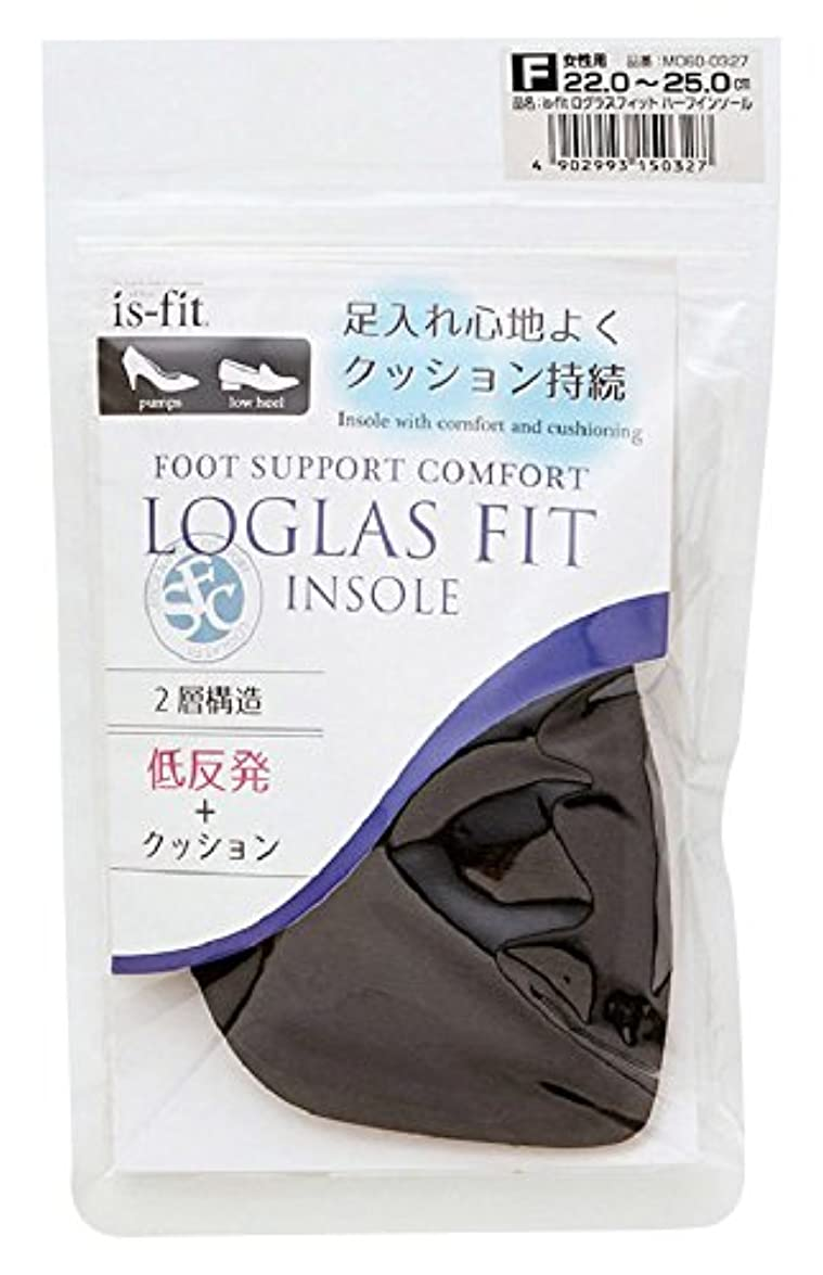 不幸さようならエーカーモリト is-fit(イズ?フィット) ログラスフィット ハーフインソール 女性用 フリーサイズ (22.0~25.0cm)