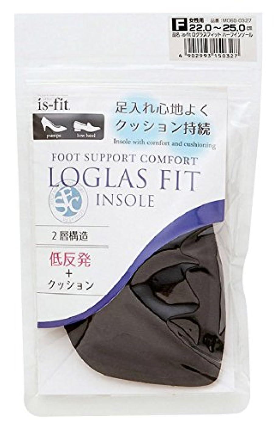 のスコア省略暴動モリト is-fit(イズ?フィット) ログラスフィット ハーフインソール 女性用 フリーサイズ (22.0~25.0cm)