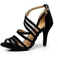 """CXS Ladies Open Toe Party Wedding Heels Ballroom Dance Shoes for Salsa Tango and Practice, 2.75"""" Heel"""
