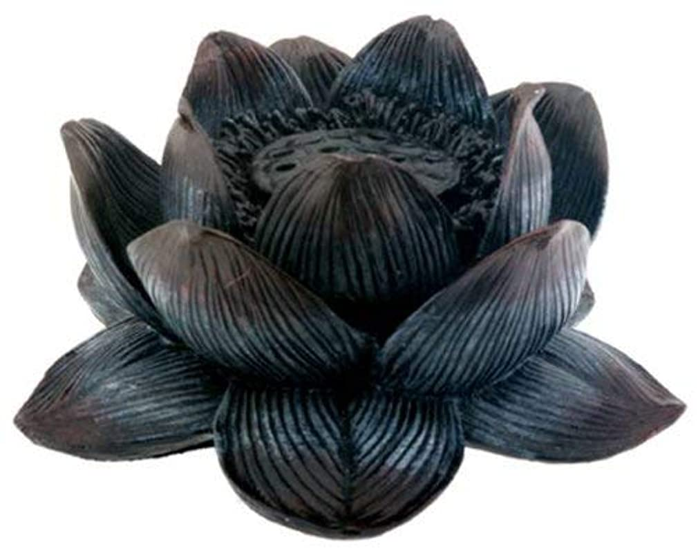テーブルを設定する作詞家限られたBuddha Meditation Aroma Scent Lotus Incense Burner Collectible