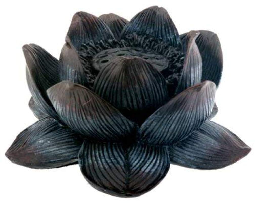 苦しむ行動可能Buddha Meditation Aroma Scent Lotus Incense Burner Collectible