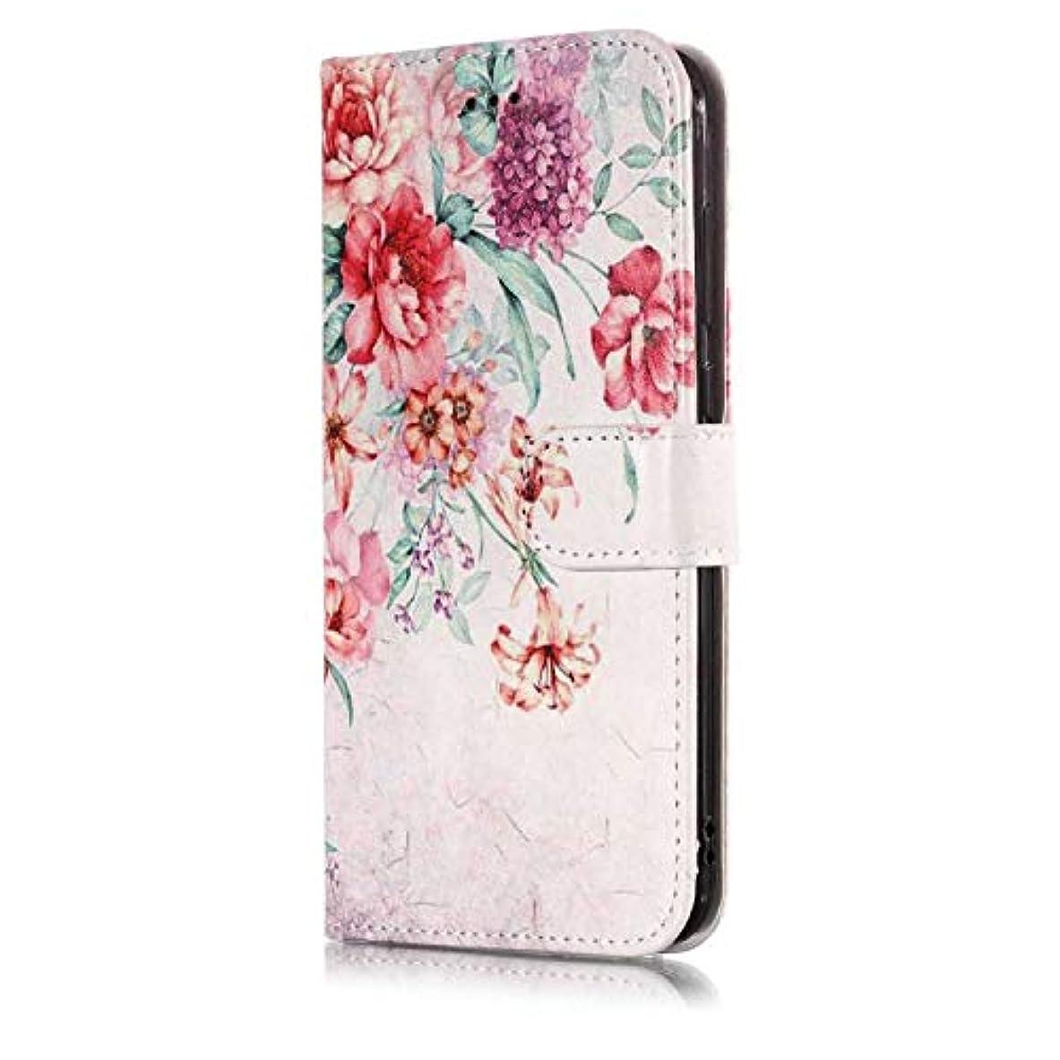 CUSKING Huawei P8 Lite 2017 手帳型ケース Huawei P8 Lite 2017 手帳型 カバー 札入れフ カードポケット スタント機能 横開き 磁気バックル ケース - 柄4