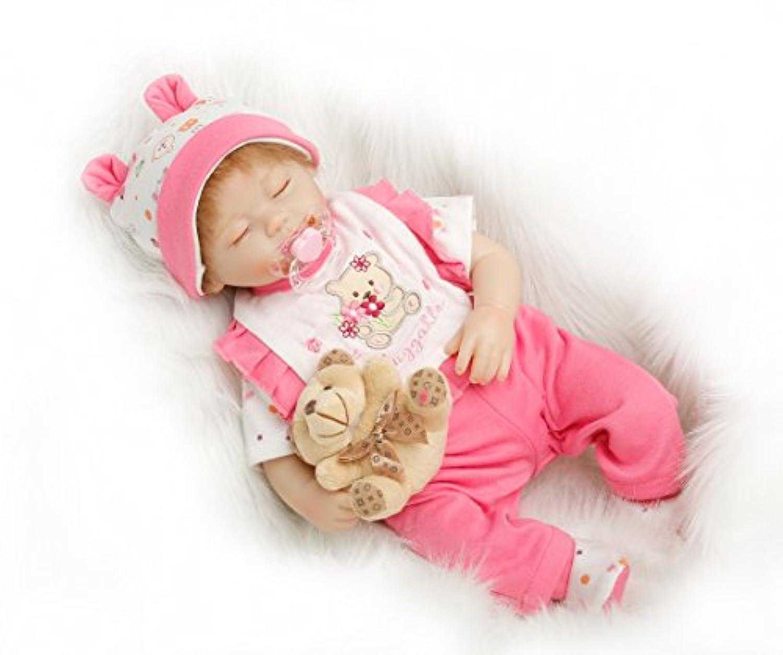SanyDoll Rebornベビー人形ソフトSilicone 18インチ45 cm磁気Lovely Lifelike Lovelyベビーピンクかわいい人形