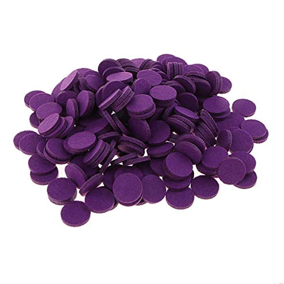 満員急襲最大化する約200個入り 詰め替えパッド 精油付き アロマディフューザー 交換用 オイルパッド 全11色 - 紫の