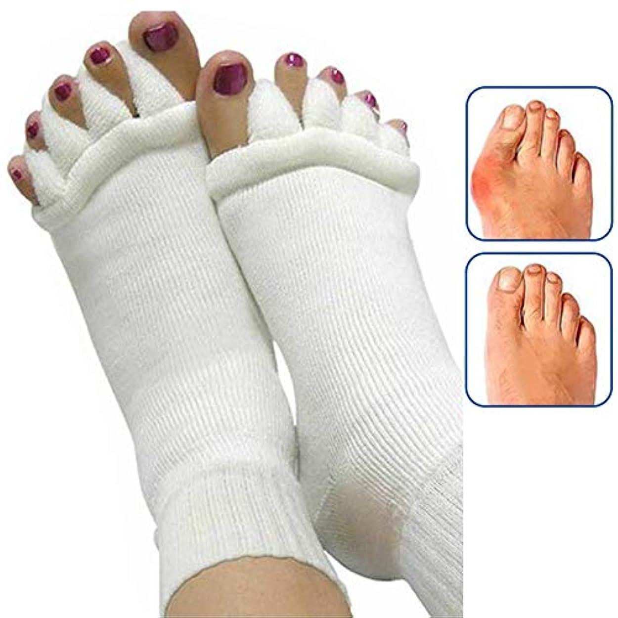 避ける最も早い宇宙の女性のための1Pairフットマッサージャー足ソックス指セパレーターマッサージ健康フットケアコンプレッションソックス足足の痛みを軽減