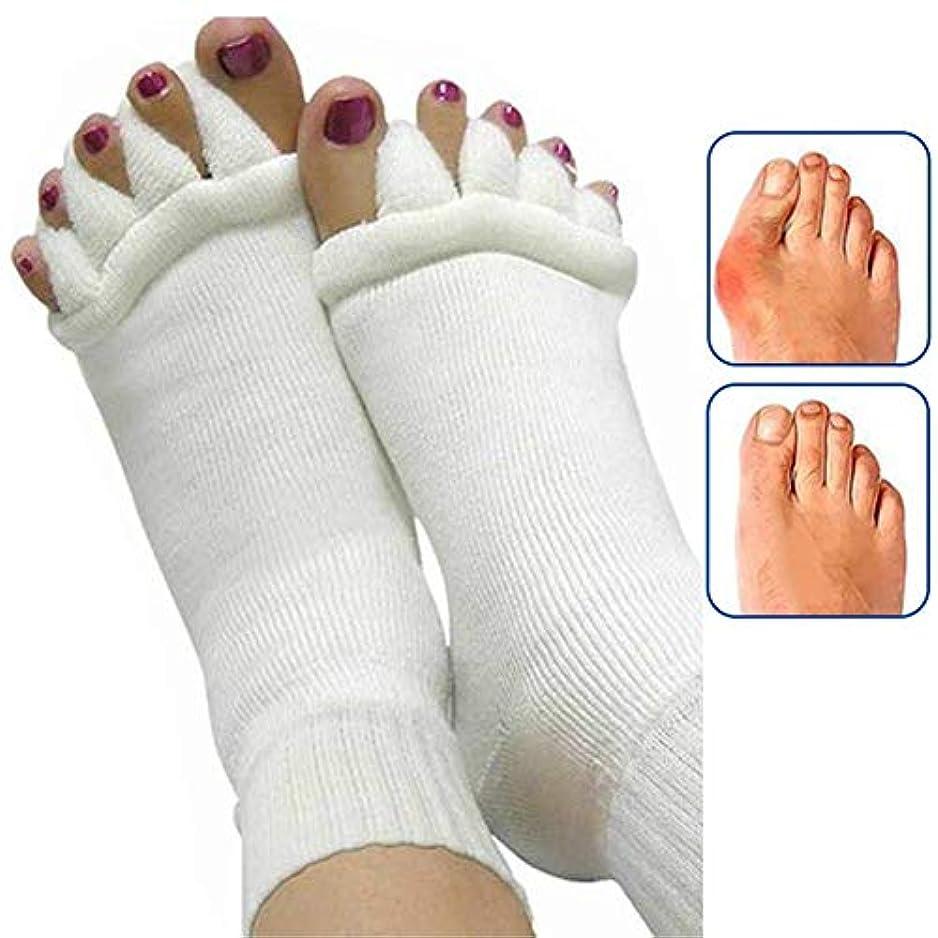 電気技師序文潜む女性のための1Pairフットマッサージャー足ソックス指セパレーターマッサージ健康フットケアコンプレッションソックス足足の痛みを軽減