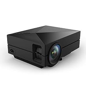 AbdTech ミニLEDプロジェクター 1000ルーメン 800*480 HD解像度サポート1920×1080 ブラック