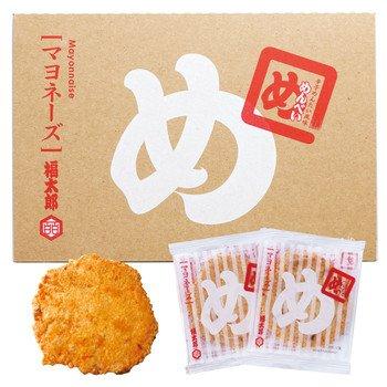 博多土産 めんべい(辛子めんたい風味せんべい) マヨネーズ 16袋(32枚)入り 専用紙袋付き