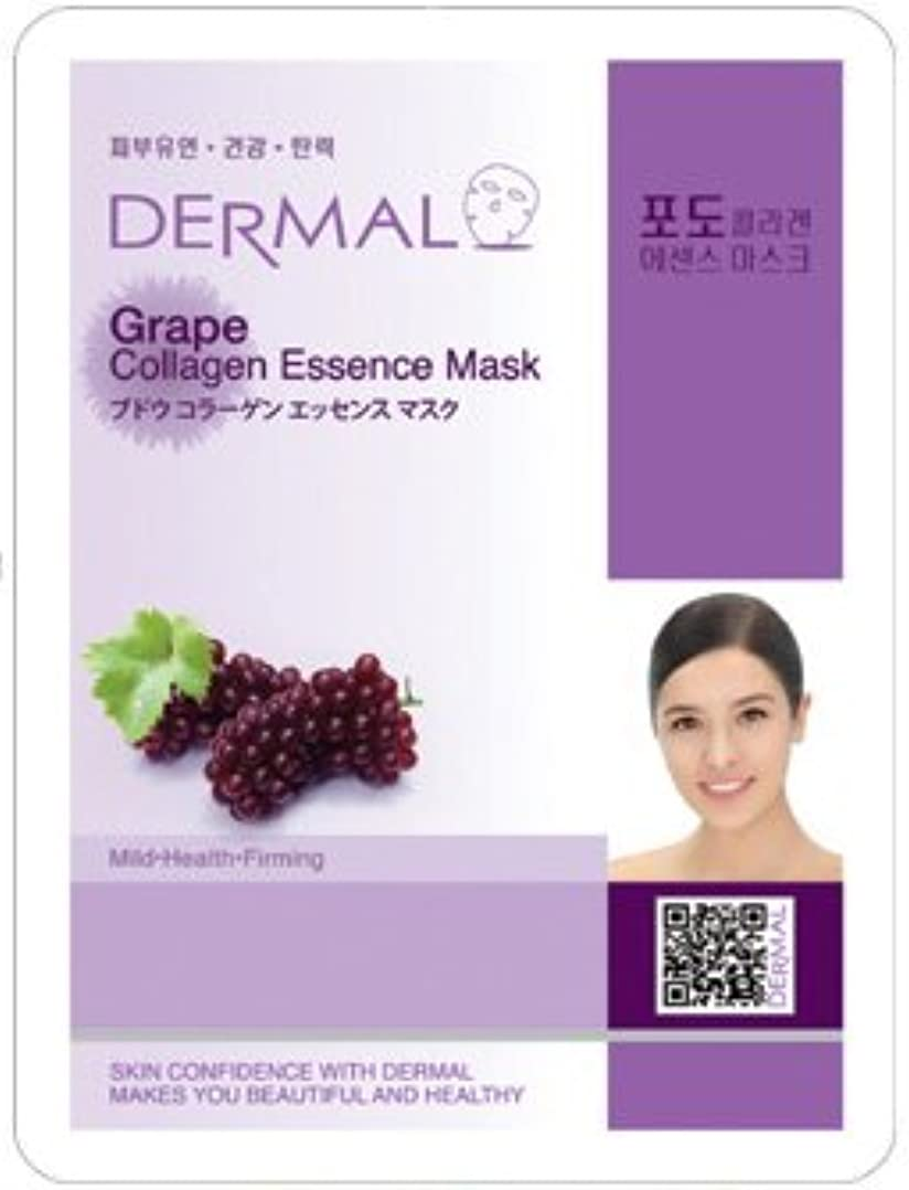 しがみつく栄光かけがえのないシートマスク ブドウ 100枚セット ダーマル(Dermal) フェイス パック