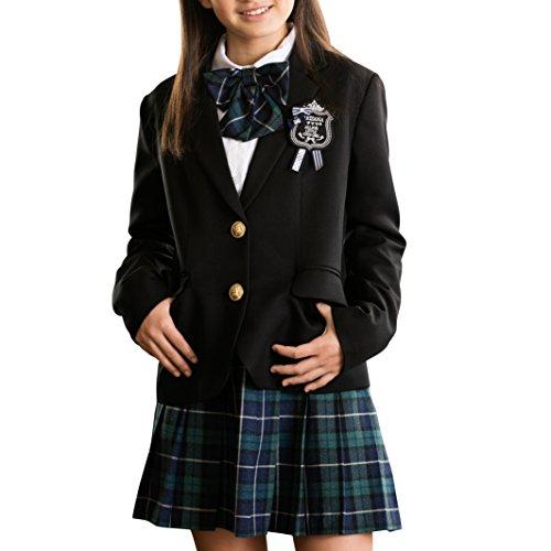 be02f720d4134  アリサナ arisana 卒業式 小学生 女の子 スーツ 子供服 フォーマル ヴェロニカ (ジャケット + スカート + シャツ + リボン +  ワッペン の 5点 セット) グ.