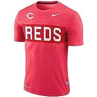 ナイキ メンズ MLB Cincinnati Reds Nike Slub Stripe Performance T-Shirt Tシャツ 半袖 ドライフィット Red [並行輸入品]