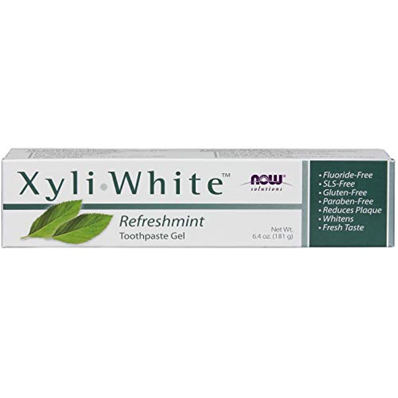 受け入れる抑制援助[海外直送品] ナウフーズ キシリホワイト リフレッシュミント歯磨きジェル 181g