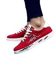 (ニカ) メンズ ハイカット スニーカー 通勤 通学 メンズ シューズ 日常着用 靴 シューズ メンズ カジュアル シューズ スポーツ スニーカーレッドbs27