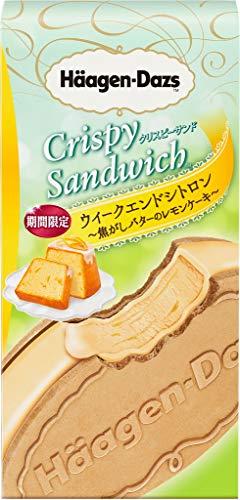 ハーゲンダッツ クリスピーサンド ウィークエンドシトロン 焦がしバターのレモンケーキ60ml×6箱