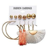 Row&ling19 スタイル女性のドロップイヤリング真珠のイヤリングセットサークル甘いファッションゴールデンハート高級新デザイン韓国の宝石ホット イヤリング レディース