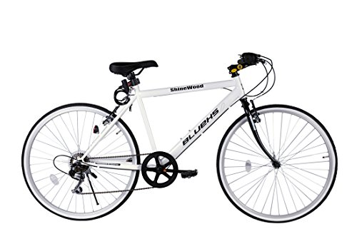 SHINEWOOD(シャインウッド) 自転車 26インチ クロスバイク 軽量 シマノ6段変速ライト鍵付き