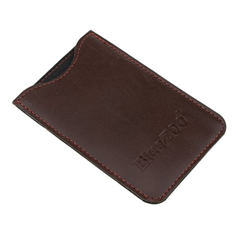設計エイリアス知る収納パック 収納ケース 保護カバー 櫛/名刺/IDカード/銀行カード 多機能 高品質 全2色 - 褐色