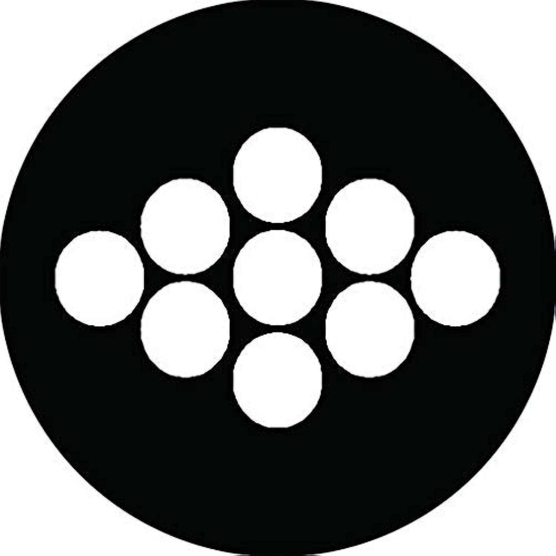 家紋シール 菱九曜紋 布タイプ 直径40mm 6枚セット NS4-2657