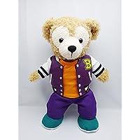 Sサイズ(全長43cm) ダッフィー 衣装 紫 スタジアムジャンバー コスチューム  hdn06