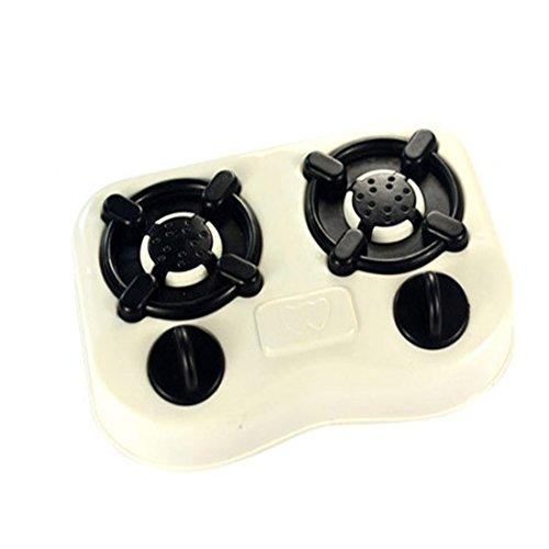 キッチンプレイセット HAOUN キッチン用品 料理玩具 おままごと キッチンセット 早期開発 知育玩具 12PCS /セット- ホワイト+ブラック