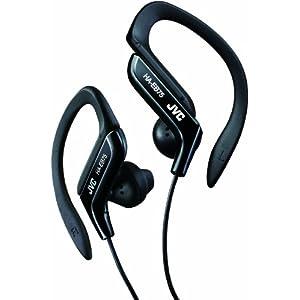 JVC HA-EB75-B イヤホン 耳掛け式 防滴仕様 スポーツ用 ブラック