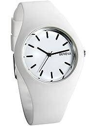 Lancardo 子供 腕時計 女の子 ガールズ ウォッチ かわいい シンプル シリコン ベルト おしゃれ クォーツ時計 アナログ表示 可愛い ホワイト