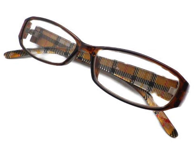 時計回り消化気まぐれなおしゃれ レディース かわいい 老眼鏡 シニアグラス リーディンググラス スクエア カジュアル ブラウン GL07