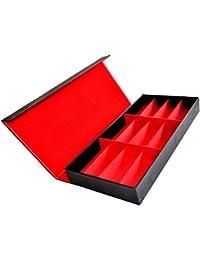 【Wepperin wolks】 メガネ サングラス コレクション ケース 外装 黒 × 内装 赤 12 本 収納 腕時計 宝石 貴金属 アクセサリー の 保管 にも 収納 BOX