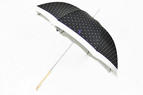 (ラルフローレン) Ralph Lauren マリンカラー×ドット 雨傘 (長傘)/ 黒×白×パープル