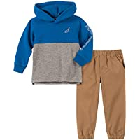 Nautica Baby Boys 2 Pieces Hooded Pullover Pants Set