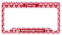 Carolines Treasures LH9172LPF 12 x 6 in. Petit Basset Griffon Vendeen Valentines Love and Hearts License Plate Frame
