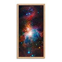 Space Universe Vista Orion Nebula Long Panel Framed Wall Art Print スペース壁