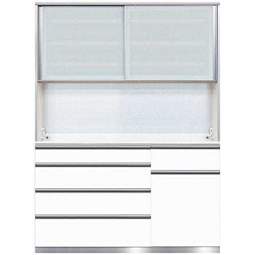 綾野製作所 食器棚CLB 【幅160×奥50×高さ217cm】 CLB-160R ホワイト鏡面 【4梱包】