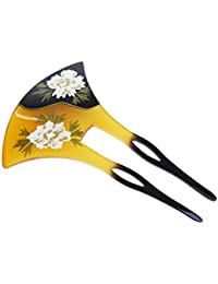 【栄屋美原堂】べっこう風 小菊の バチ型かんざし