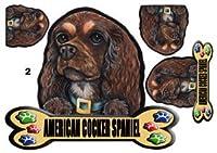 犬ステッカー アメリカンコッカースパニエル2 マグネット