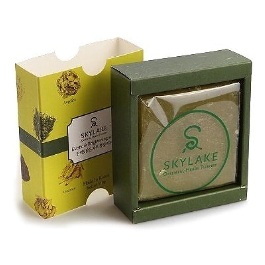 凝視指紋収穫ハヌルホス[Skylake] 漢方アロマ石鹸Oriental Herbs Theory Soap (ハリ改.善&ブライトニング用)